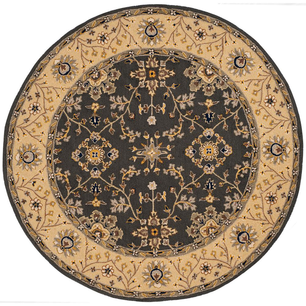 safavieh easy care gray cream 8 ft x 8 ft round area rug ezc751h 8r the home depot. Black Bedroom Furniture Sets. Home Design Ideas