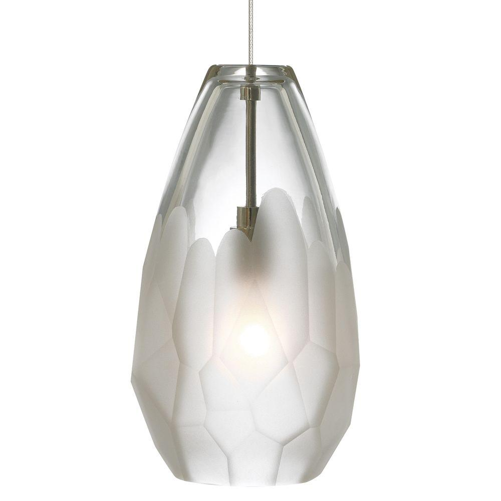 Lbl Lighting Briolette 1 Light Satin Nickel Frost Xenon Hanging Mini Pendant