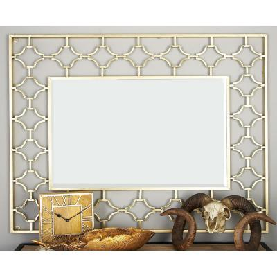 Large Rectangle Gold Modern Mirror (50 in. H x 38 in. W)