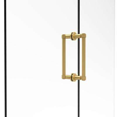 Contemporary 8 in. Back-to-Back Shower Door Pull in Unlacquered Brass