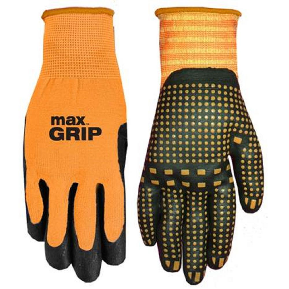 Medium Men Women Safety WORK GLOVe Black Nitrile Coated Palm New Driver Lot
