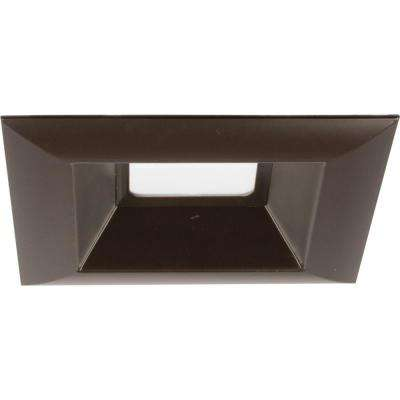 Retrofit Square Collection 6 in. Antique Bronze Integrated LED Recessed Trim