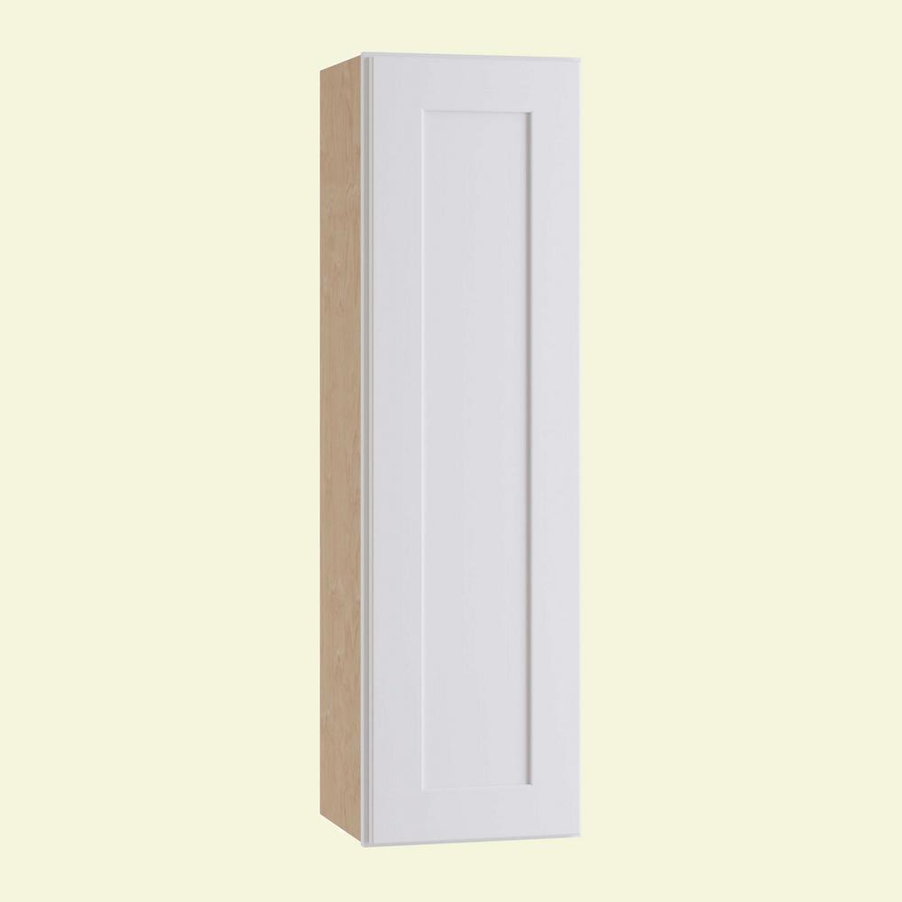 Home Decorators Collection Newport Assembled 9 in. x 42 in. x 12 in. Wall Kitchen Cabinet with 1 Door Left Hand in Pacific White