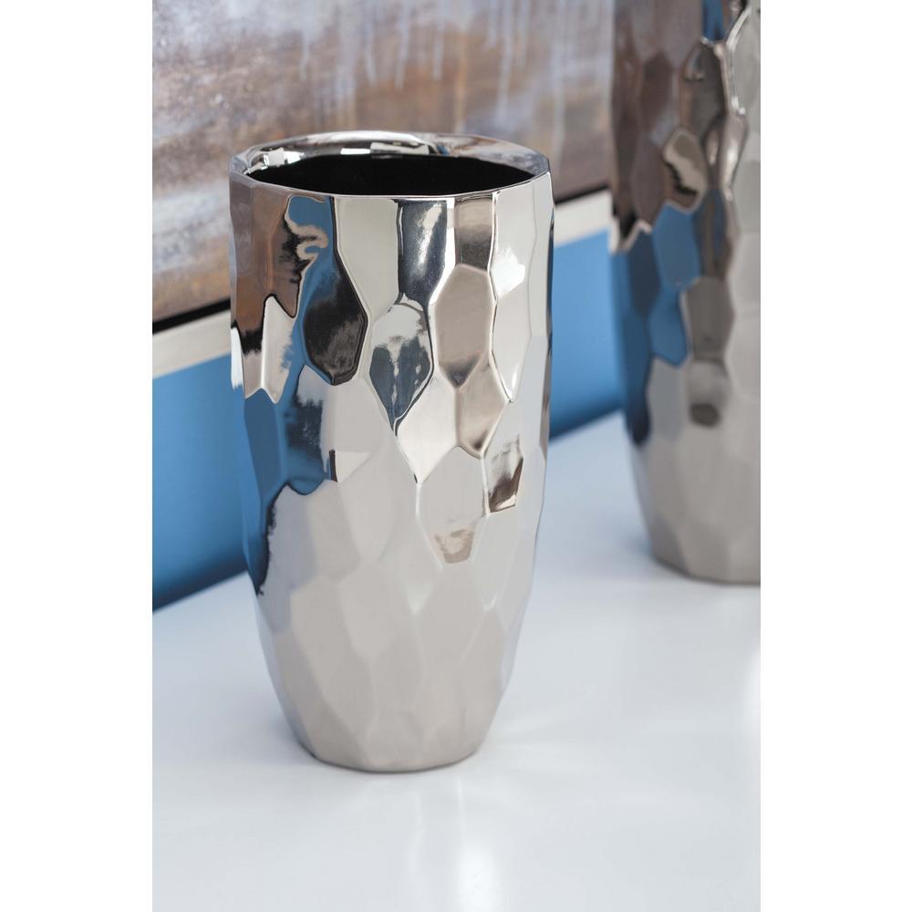 8 in. Honeycomb Metallics Ceramic Decorative Vase