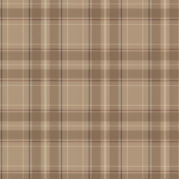 Beacon House 56.4 sq. ft. Caledonia Beige Plaid Wallpaper 2604-21222