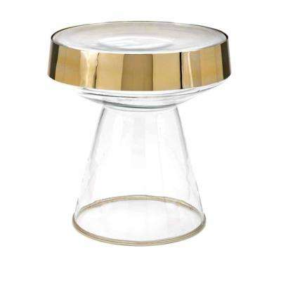 Leman Gold Glass Table