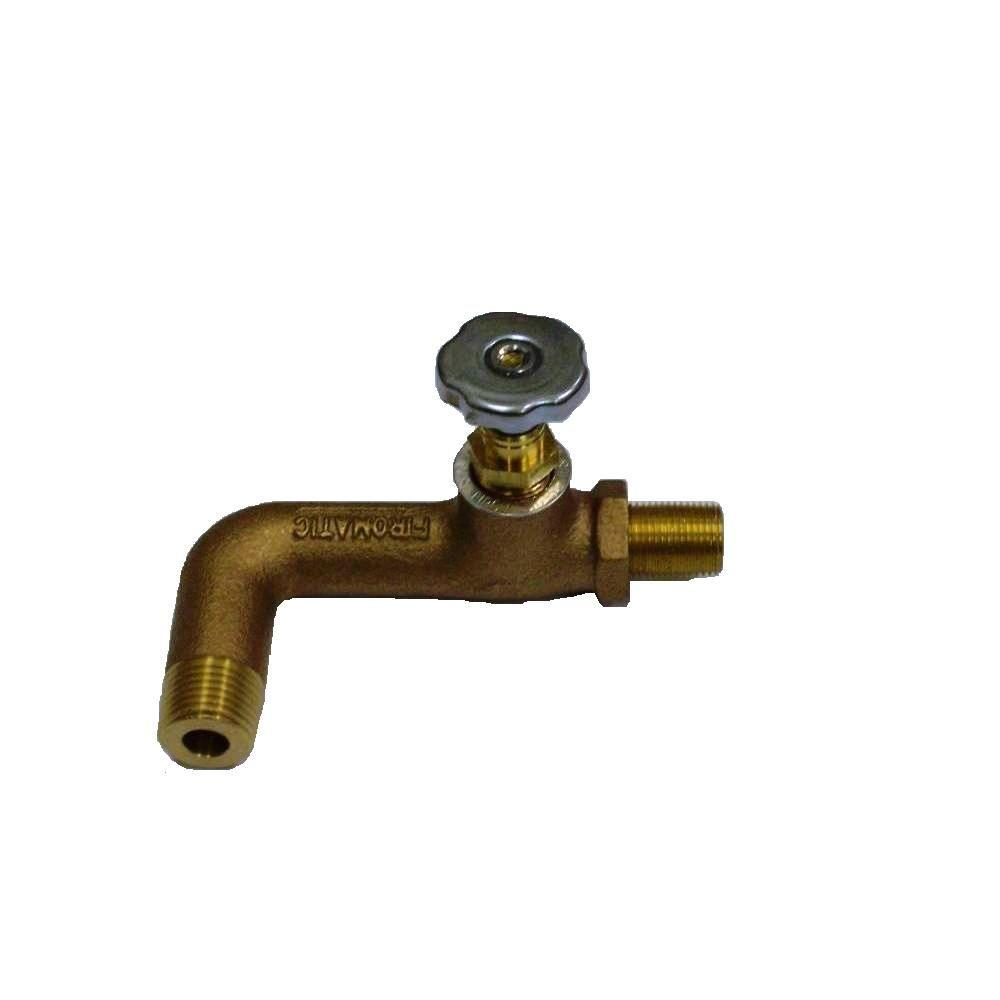 Firomatic 1/2 in. x 3/8 in. Bronze Oil Shutoff Valve