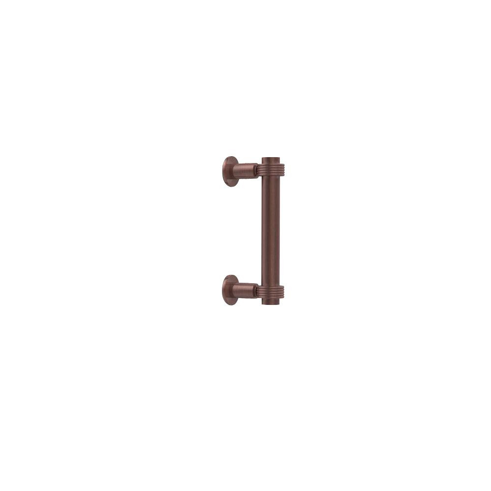 Contemporary 6 in. Back to Back Shower Door Pull in Antique