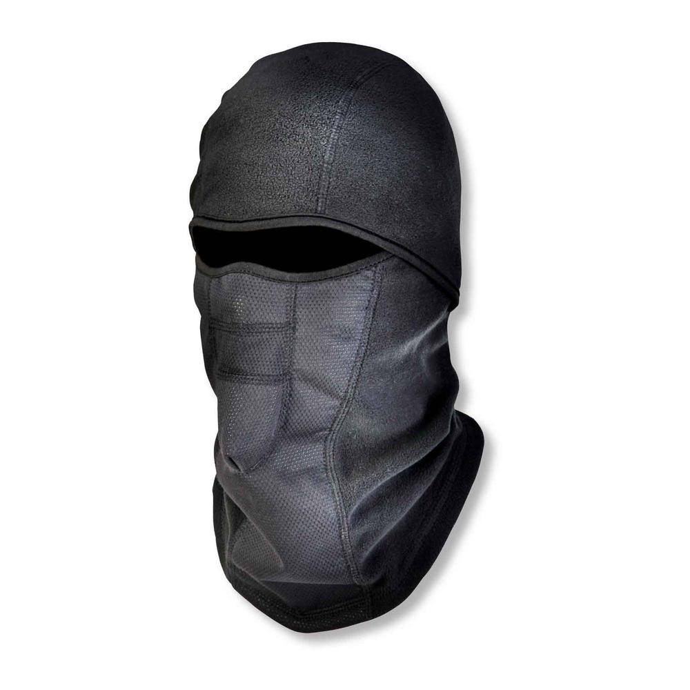 Black Wind-Proof Hinged Balaclava