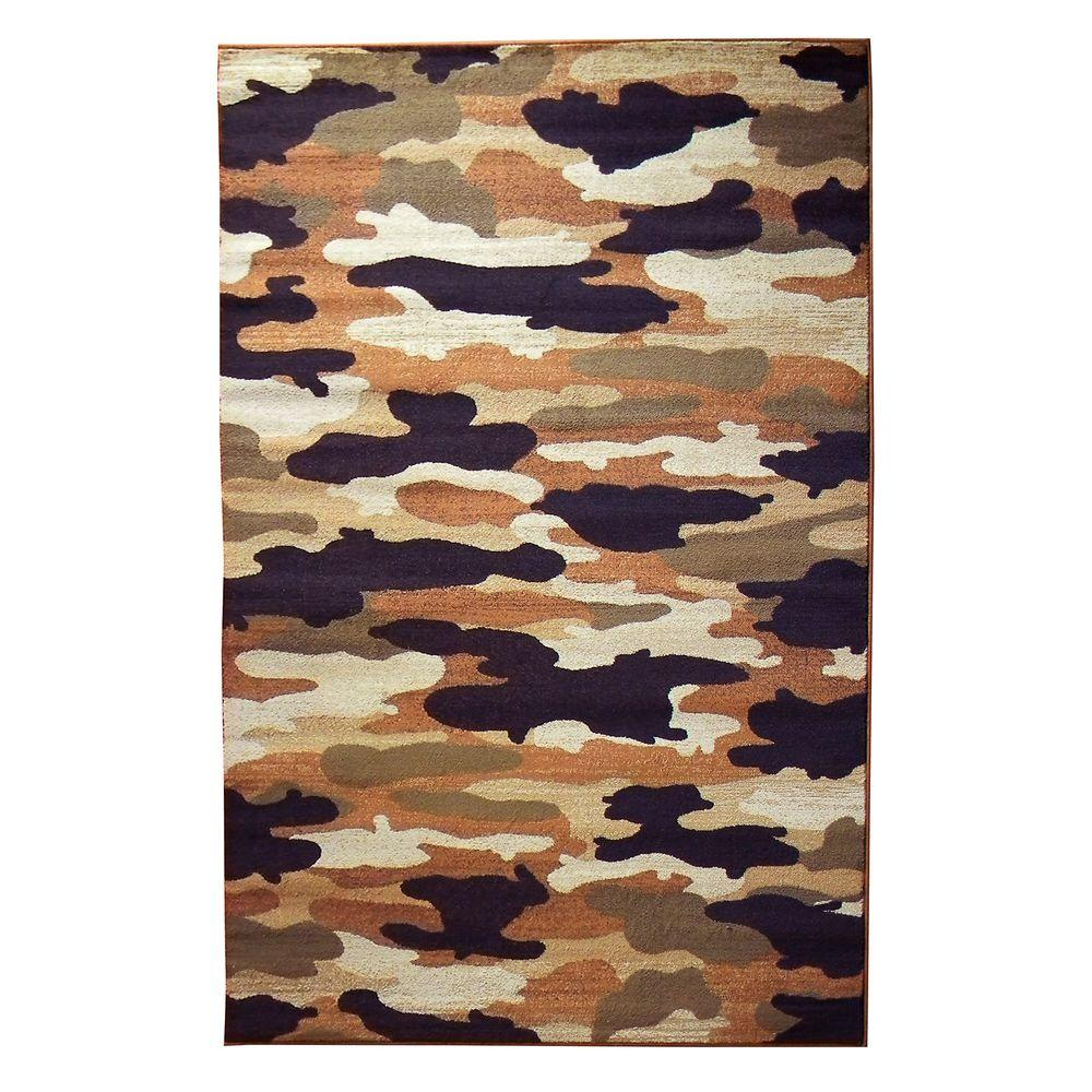 Camo Rug Home: DonnieAnn Wilderness Design Multi Camouflage 5 Ft. 2 In. X