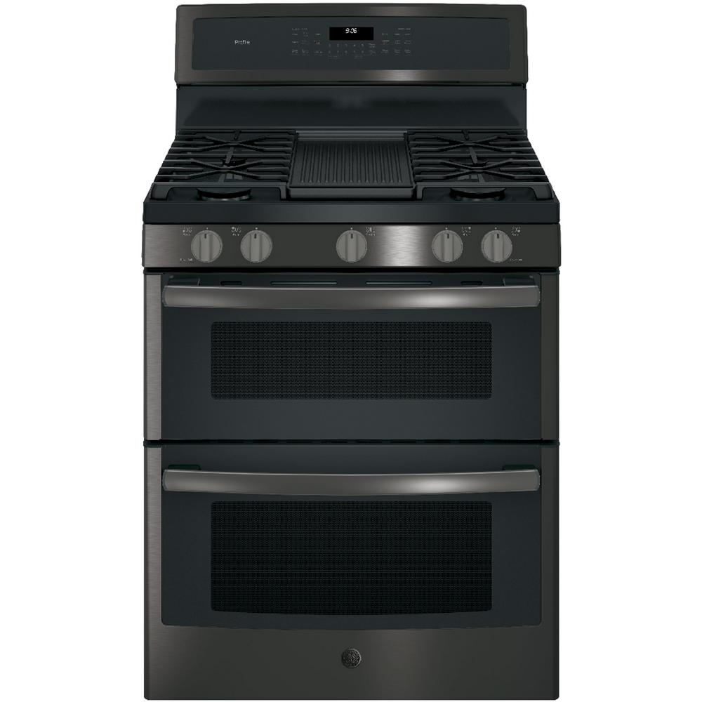 GE Profile 30 in. 6.8 cu. ft. Double Oven Gas Range with ...