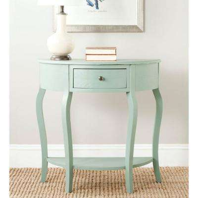 Jan Demilune Dusty Green Storage Console Table