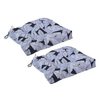 Carano Shadow Square Tufted Outdoor Seat Cushion (2-Pack)