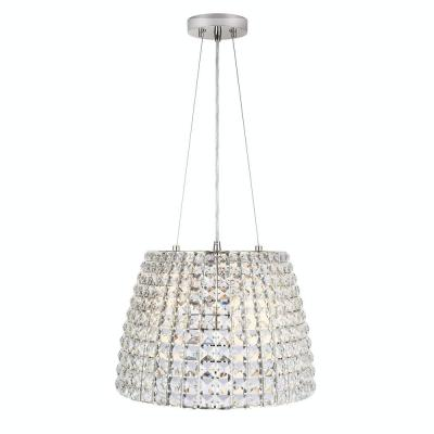 Beatrice 3-Light 16 in. Polished Nickel Crystal Pendant