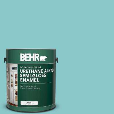 1 gal. #510D-4 Embellished Blue Urethane Alkyd Semi-Gloss Enamel Interior/Exterior Paint