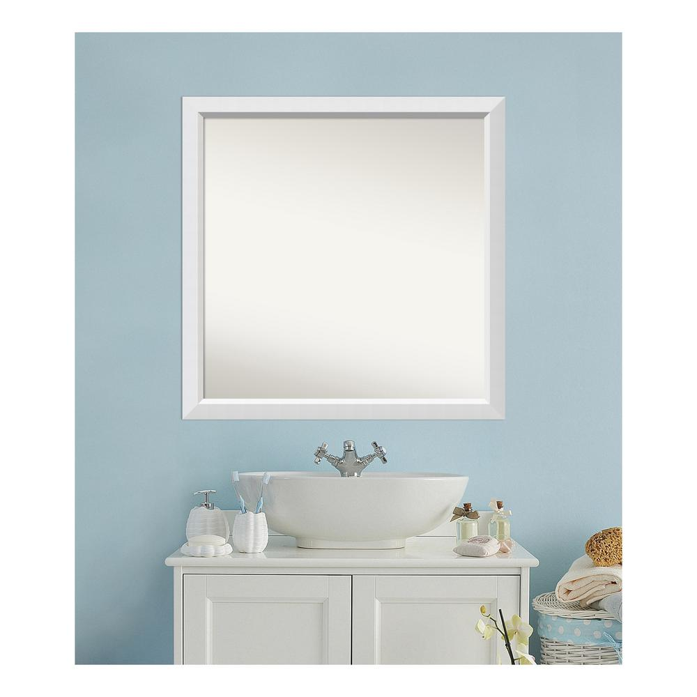 amanti art 36 in. x 36 in. blanco white wood framed mirror
