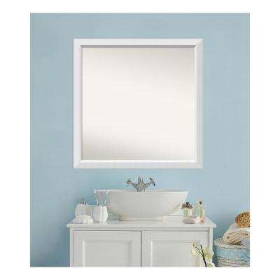 36 in. x 36 in. Blanco White Wood Framed Mirror