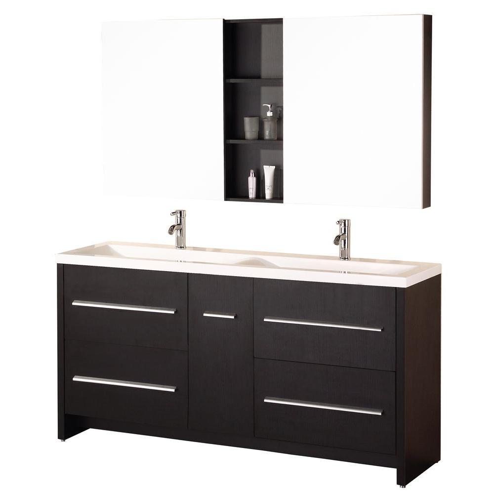 Design Element Perfecta 72 In. W X 20 In. D Vanity In