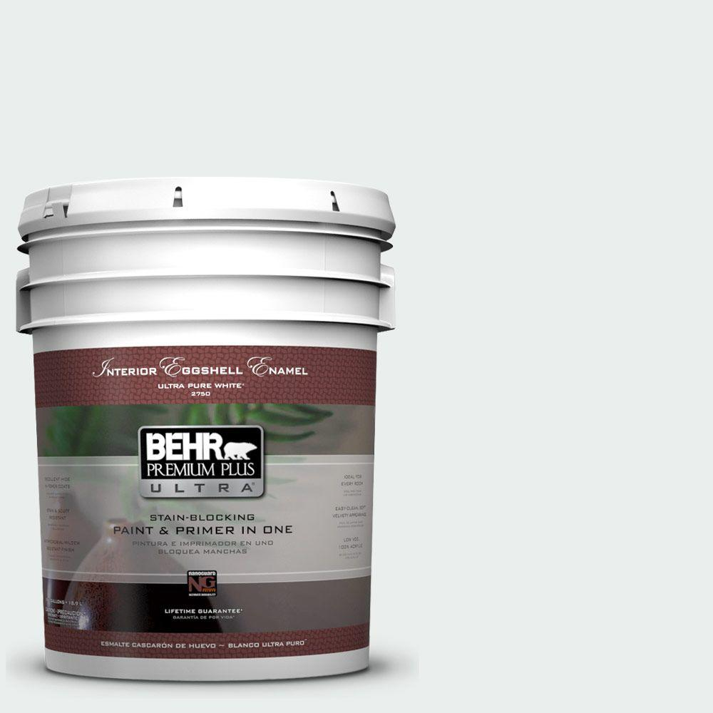 BEHR Premium Plus Ultra 5-gal. #W-D-500 Cascade White Eggshell Enamel Interior Paint