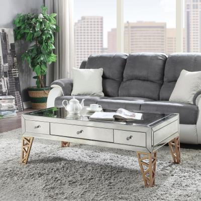 Stephen Mirrored with Gold End Table