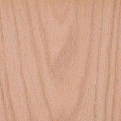 Edgemate 48 in. x 96 in. Red Oak Wood Veneer with 10 mil Paper Backer
