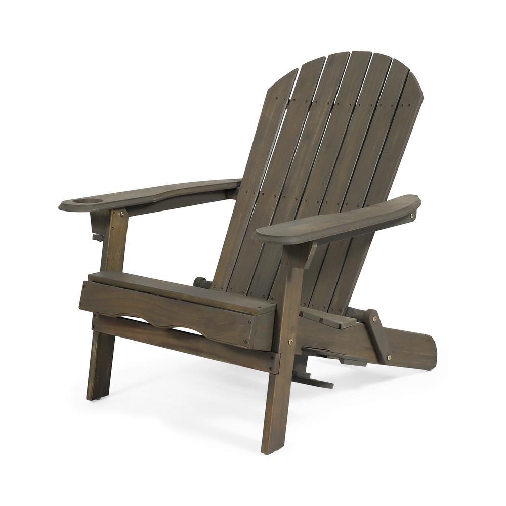 Lissette Gray Foldable Wood Adirondack Chair
