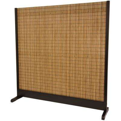 Brown 3 Panel Take Room Divider