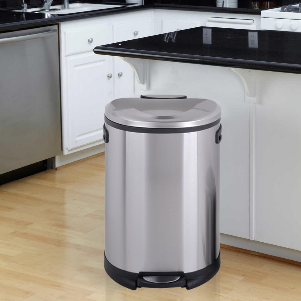 Utopia Alley Utopia Alley Cress Contour Curved Stainless Steel Trash Can