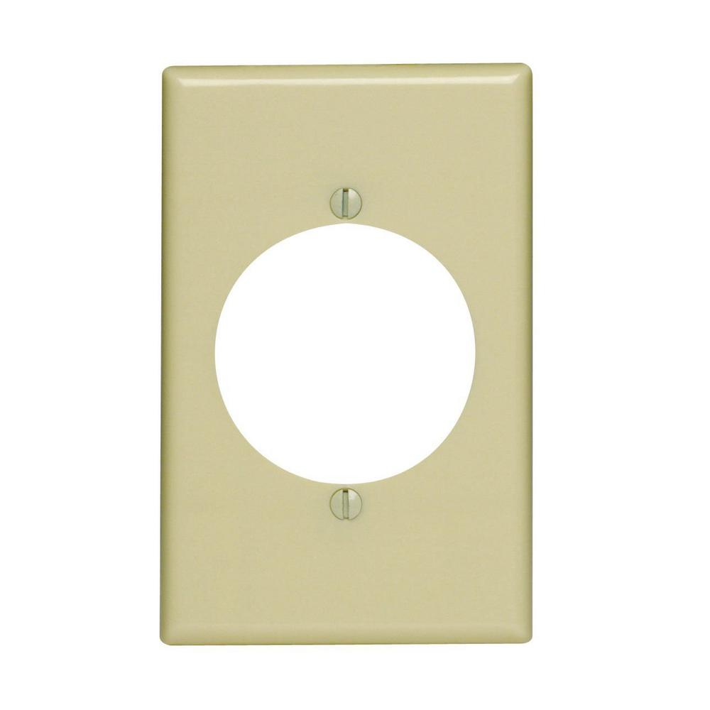 Leviton Flush Mount 1-Gang Wall Plate in Ivory-80528-I - The Home Depot