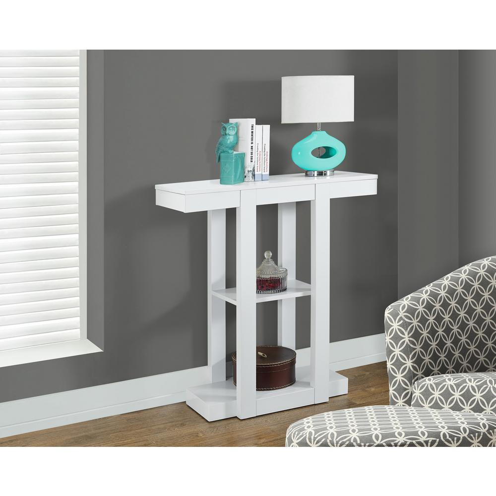 Monarch Specialties White Console Table