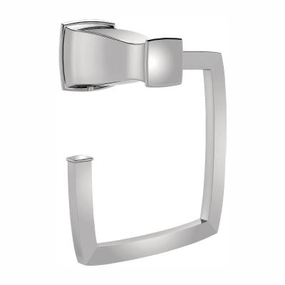 Hensley Towel Ring with Press and Mark in Chrome