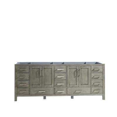 Jacques 84 in. Bath Vanity Cabinet Only in Distressed Grey