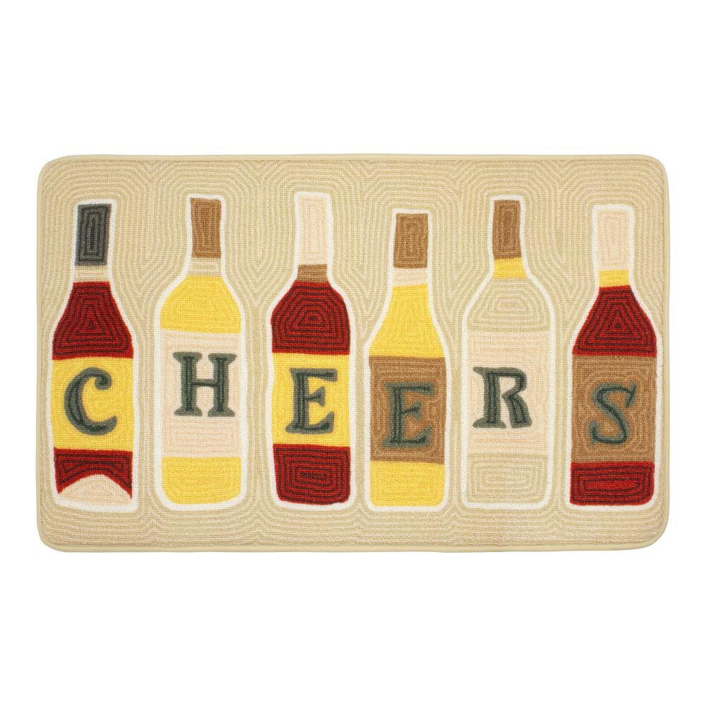 Chef Gear Cheers 20 in. x 32 in. HD Printed Kitchen Rug