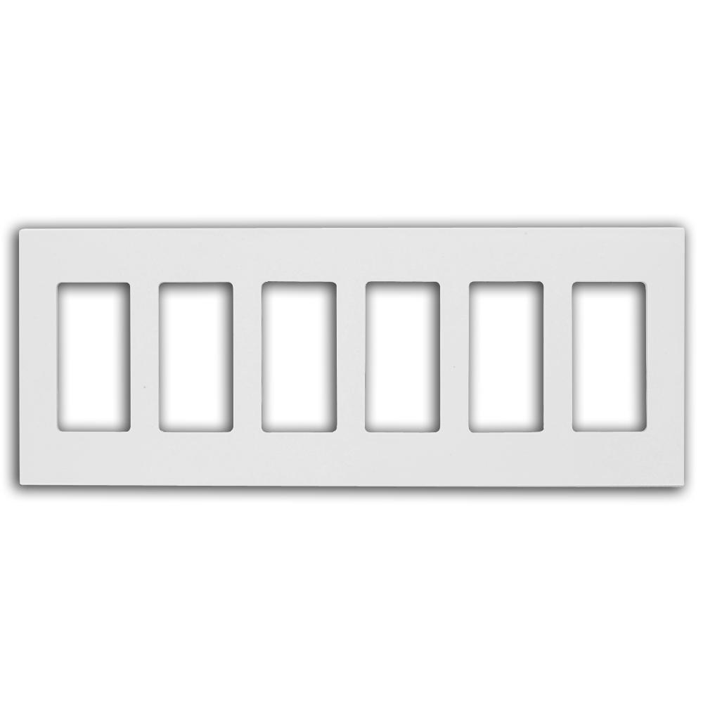 Leviton White 6 Gang Decorator Rocker Wall Plate 1 Pack 80326 Sw The Home Depot
