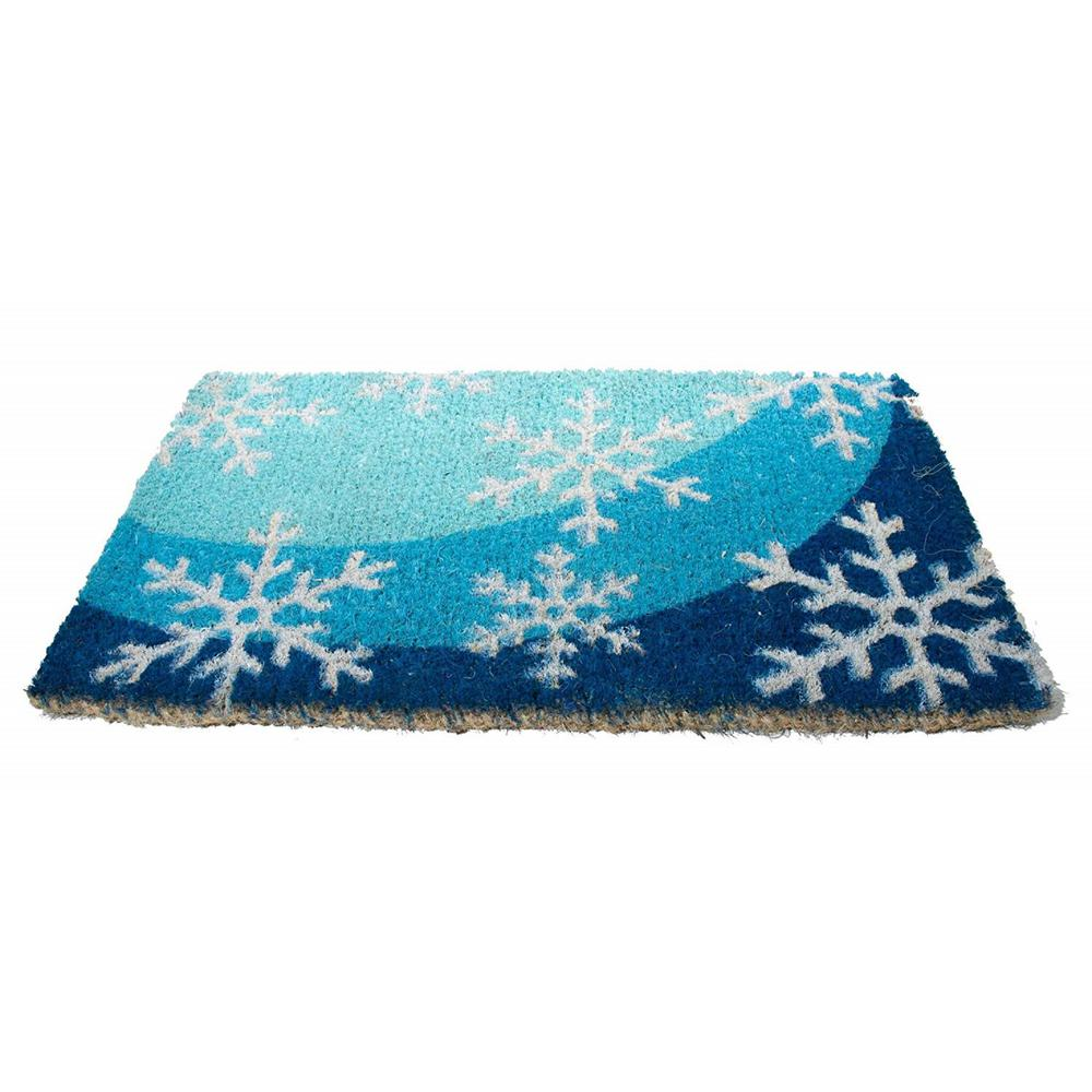Basic Coir, Snow Flakes, 18 in. x 30 in. Coconut Husk