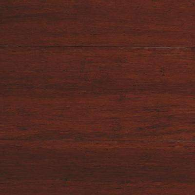 Strand Woven Mahogany 3/8 in  T x 5-1/8 in  W x 72 in  L Engineered Click  Bamboo Flooring