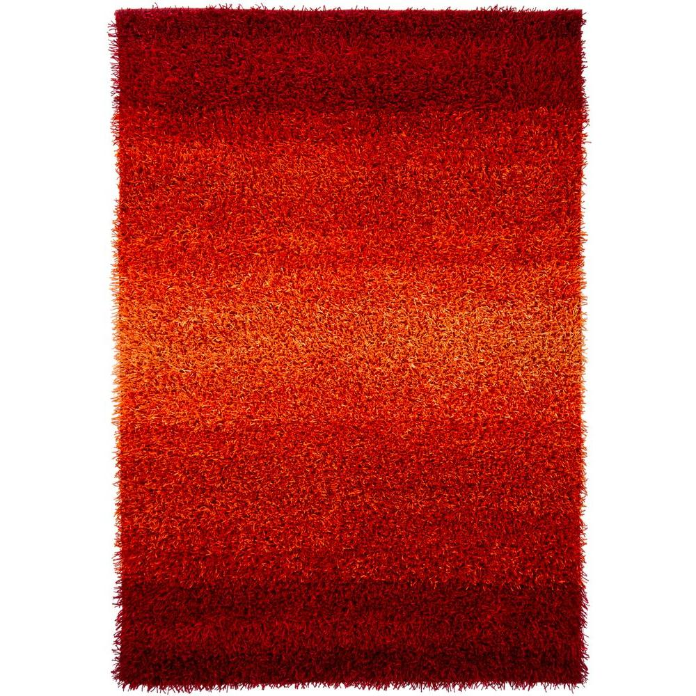 Chandra Sani Red 7 ft. 9 in. x 10 ft. 6 in. Indoor Area Rug