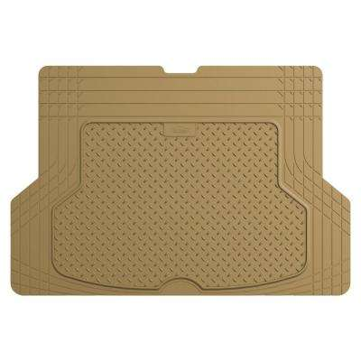Tan Trimmable Heavy Duty 53 in. x 36 in. Rubber Cargo Mat