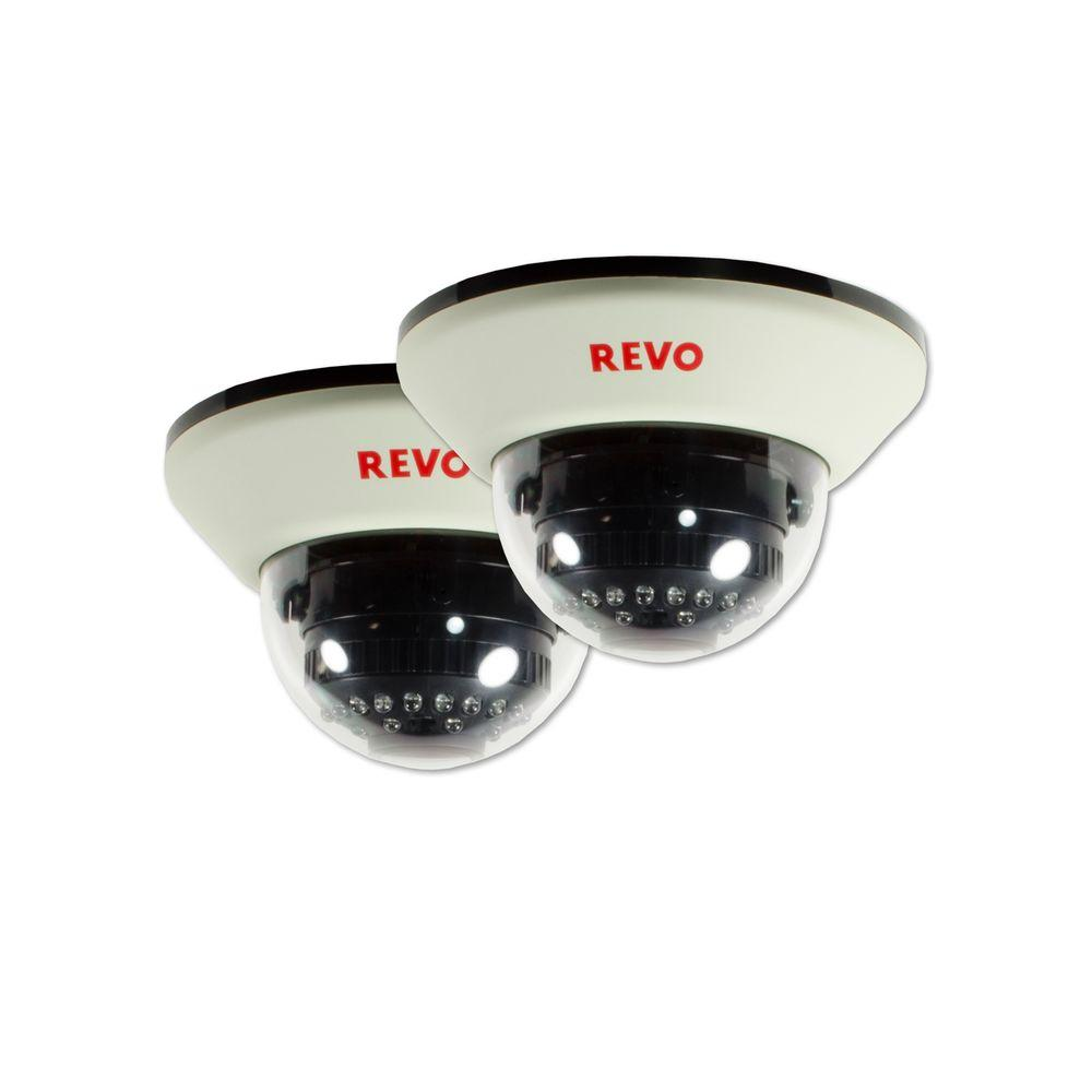 Revo 1200 TVL Indoor Dome Surveillance Camera with 100 ft...