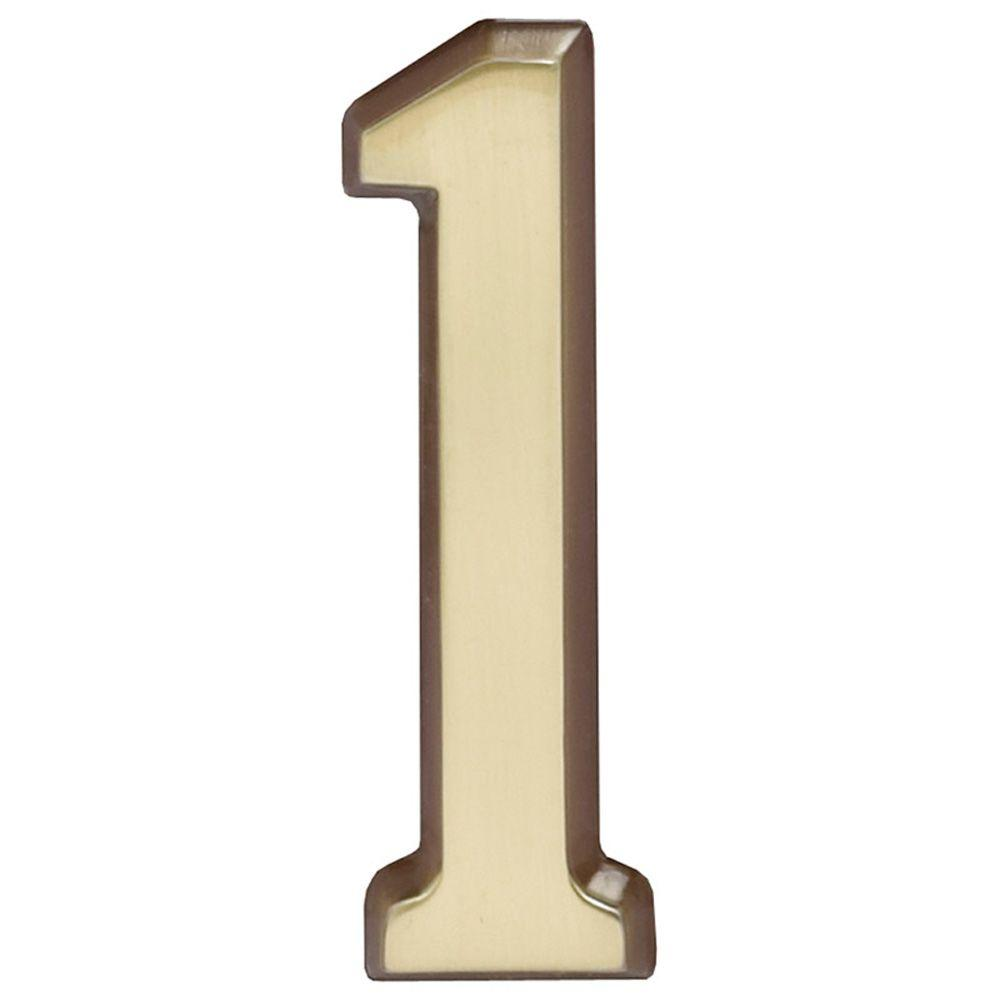 Whitehall Products 4 in. Satin Brass Number 1