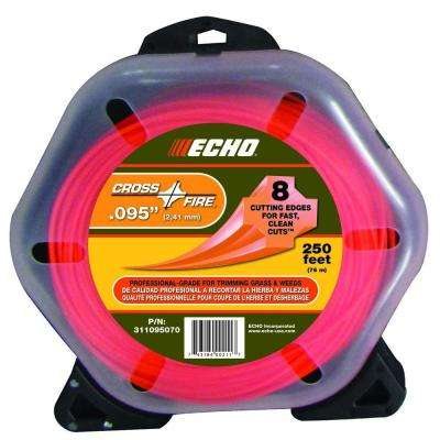 ".095"" Cross-Fire Trimmer Line (250 ft.) Large Clam"
