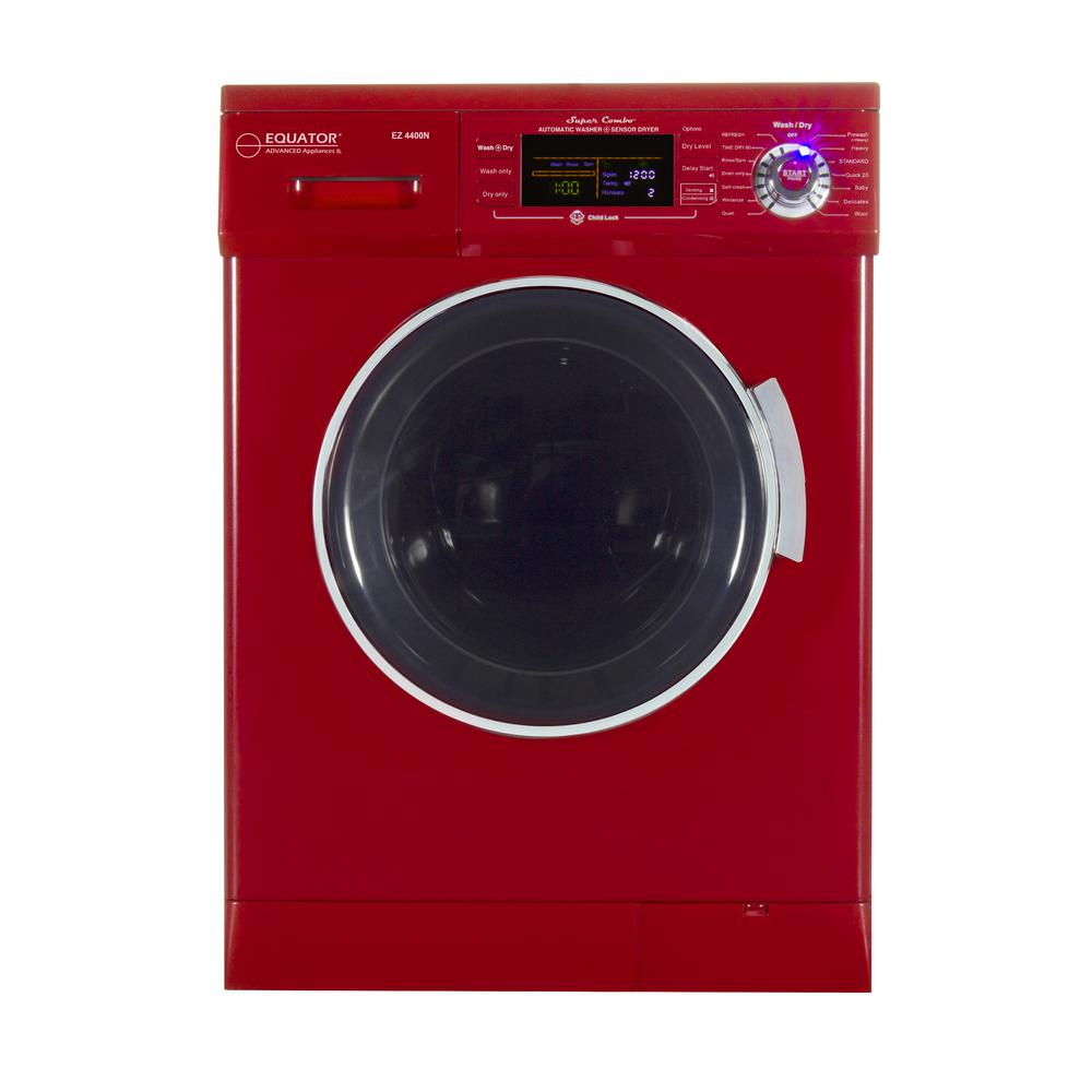 Deco 1.57 cu. ft. Merlot High -Efficiency Vented / Ventless Electric All-in-One Washer Dryer Combo