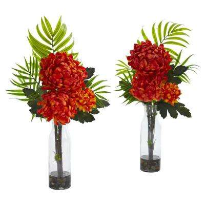 Indoor Tropical Mum Artificial Arrangement (Set of 2)