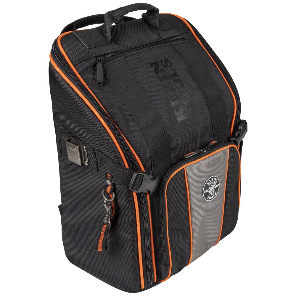 KleinTools Klein Tools Tradesman Pro 17.25 in. Tool Station Backpack with Worklight, Black/Orange/Gray