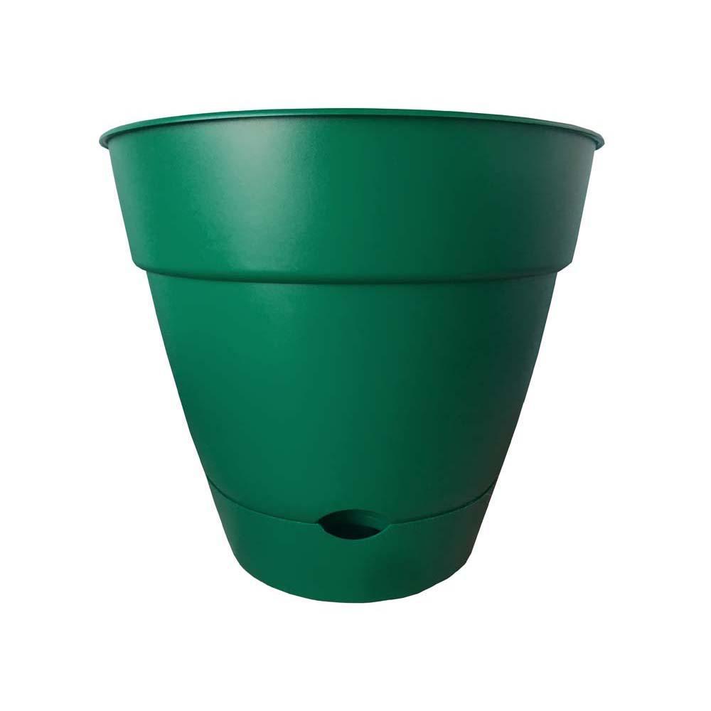 Dynamic Design Newbury 16 In X Cadmium Green Plastic Self Watering Poly Planter