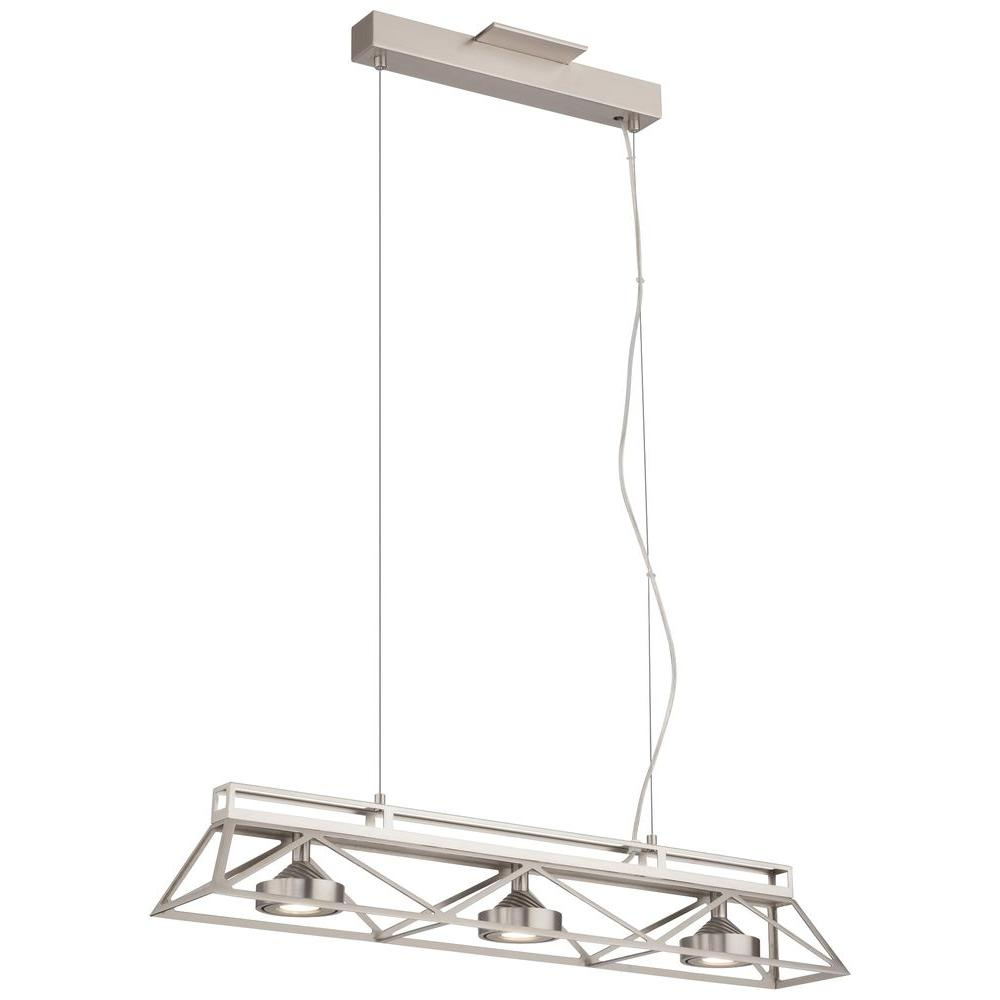 Philips Forecast Bridge Collection 3-Light Satin Nickel LED Hanging Pendant-DISCONTINUED