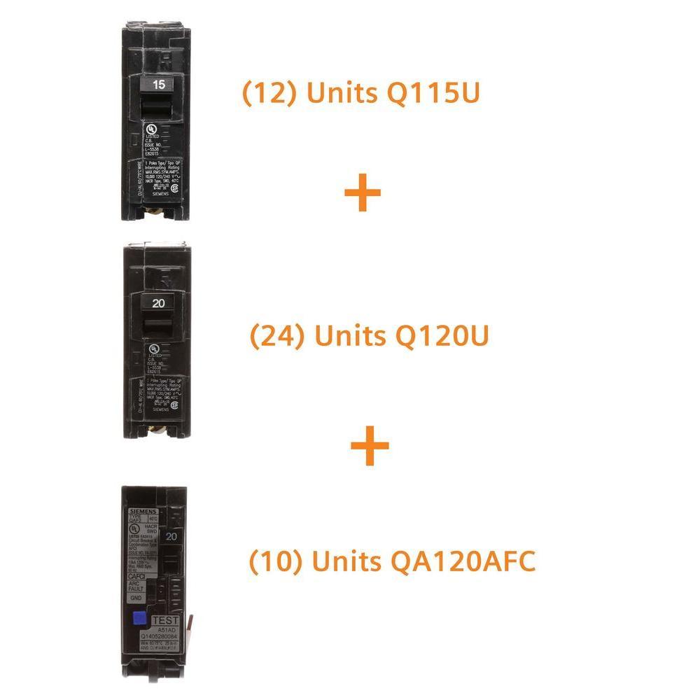 Siemens 15 Amp Single Pole (12-Pack), 20 Amp Single Pole (24-Pack), 20 Amp... by Siemens