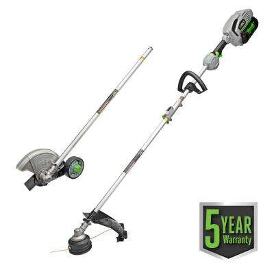 POWER+15in.56V Lithium ion Cordless String Trimmer+Edger Combo Kit (2-Tool)w/5.0Ah Batt and Charge EGO Multi-Head System