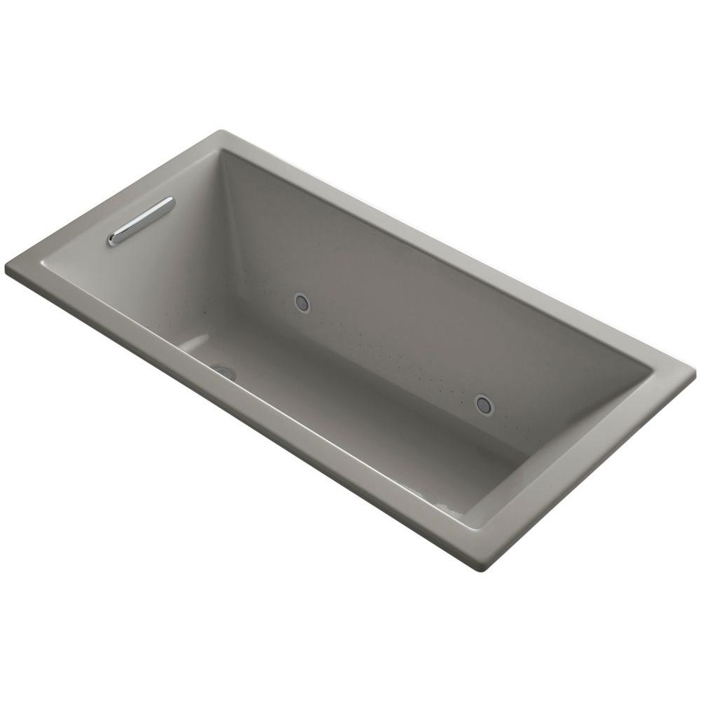 KOHLER Underscore 5 ft. Reversible Drain Bathtub in Cashmere