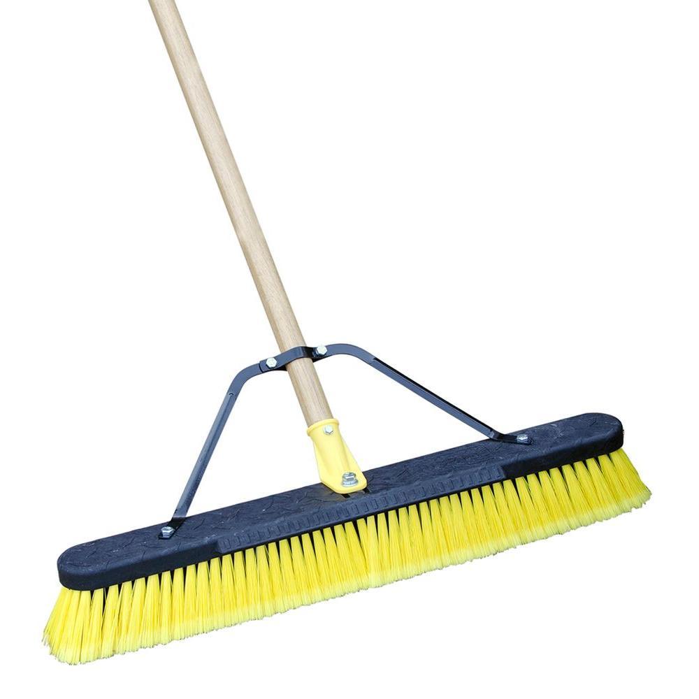 Quickie Job Site 24 in. Multi-Surface Indoor/Outdoor Push Broom